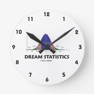 Estadísticas ideales (humor de la curva de Bell) Reloj Redondo Mediano