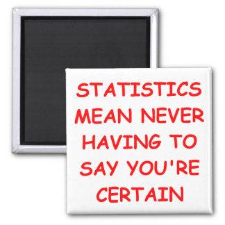 estadísticas imán de frigorífico