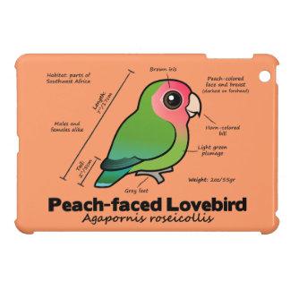 estadísticas Melocotón-hechas frente del Lovebird iPad Mini Protectores