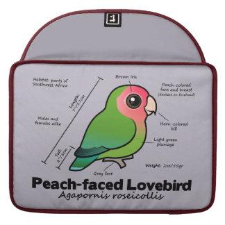 estadísticas Melocotón-hechas frente del Lovebird Funda Para Macbooks