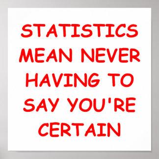 estadísticas poster