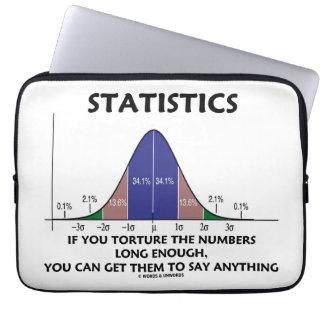 Estadísticas si usted tortura los números bastante funda portátil
