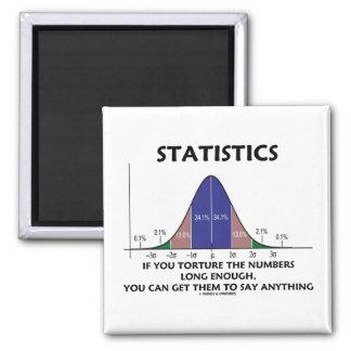 Estadísticas si usted tortura los números bastante imán