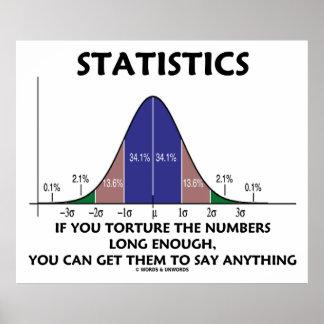Estadísticas si usted tortura los números bastante poster