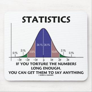 Estadísticas si usted tortura los números bastante tapetes de ratones
