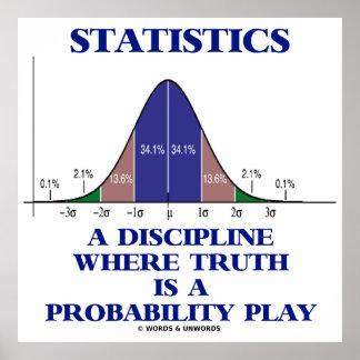 Estadísticas una disciplina donde está probabilida posters