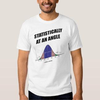 Estadístico en ángulo (humor del Stats) Remeras