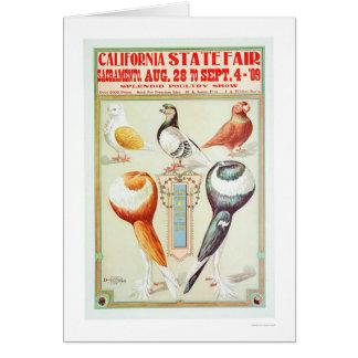 Estado 1909 justo de California Tarjeta De Felicitación