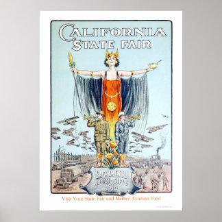 Estado 1918 de California justo Póster
