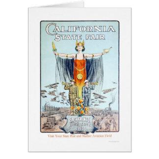 Estado 1918 de California justo Tarjeta De Felicitación