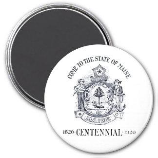 Estado 1920 del Centennial de Maine Imán Redondo 7 Cm