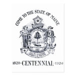 Estado 1920 del Centennial de Maine Postal