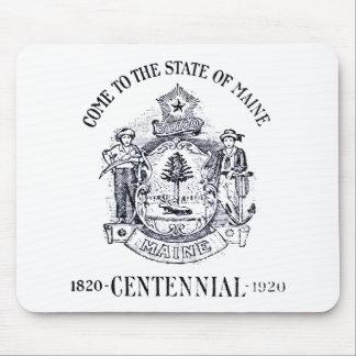 Estado 1920 del Centennial de Maine Tapetes De Raton