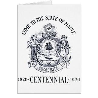 Estado 1920 del Centennial de Maine Tarjeta De Felicitación