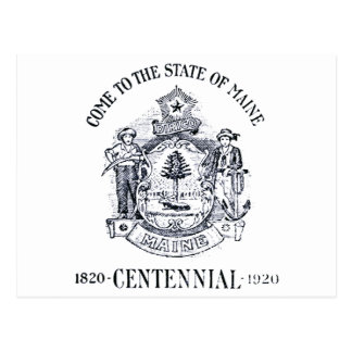 Estado 1920 del Centennial de Maine Tarjeta Postal