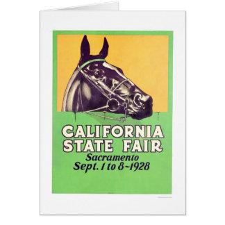 Estado 1928 de California justo Tarjeta De Felicitación