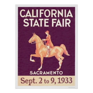 Estado 1933 de California justo Póster