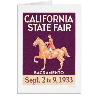Estado 1933 de California justo Tarjeta De Felicitación