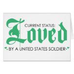 Estado actual: Amado por un soldado de los E.E.U.U Felicitación