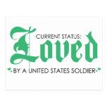 Estado actual: Amado por un soldado de los Postal
