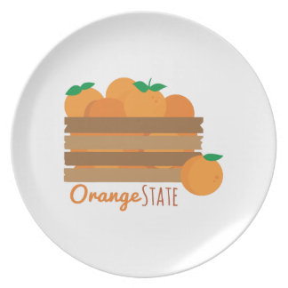 Estado anaranjado plato de cena
