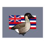 Estado Birdorable de Hawaii: Nene Tarjeta Postal