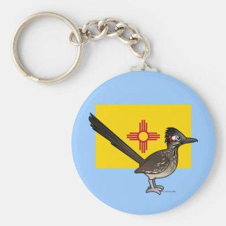 Estado Birdorable de New México: Roadrunner Llavero Redondo Tipo Pin