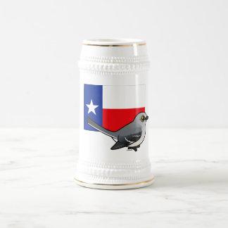 Estado Birdorable de Tejas: Mockingbird Jarra De Cerveza