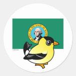 Estado Birdorable de Washington Pegatinas