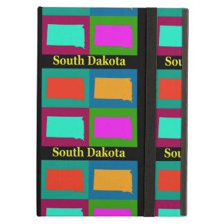Estado colorido del mapa del arte pop de Dakota