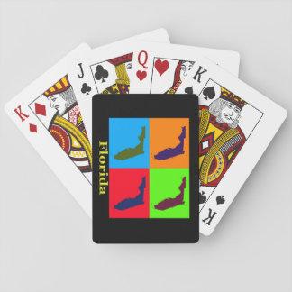 Estado colorido del mapa del arte pop de la baraja de cartas