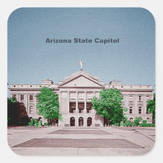 Estado Colorized teñido capitolio de Arizona Colcomania Cuadrada