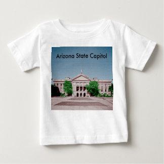 Estado Colorized teñido capitolio de Arizona Playera De Bebé