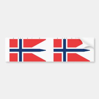 Estado con proporciones, Noruega de Noruega Etiqueta De Parachoque