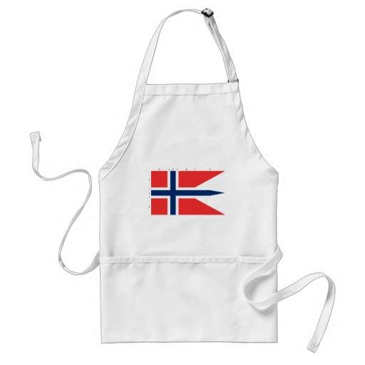 Estado con proporciones, Noruega de Noruega Delantal