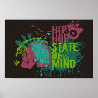 Estado de ánimo de Hip Hop Póster