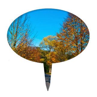 Estado de ánimo de otoño en el octubre Áureo Decoración Para Tarta