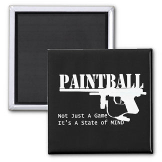 Estado de ánimo de Paintball Imán Cuadrado