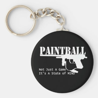 Estado de ánimo de Paintball Llavero Redondo Tipo Pin