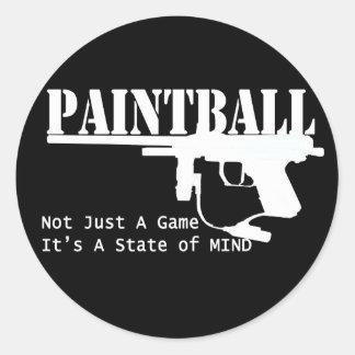 Estado de ánimo de Paintball Etiquetas Redondas
