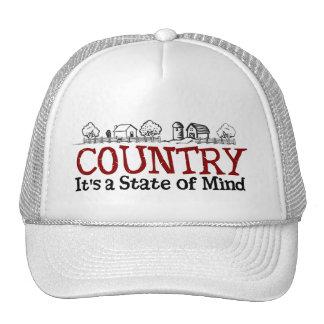 Estado de ánimo del país gorros bordados
