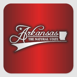 Estado de Arkansas los míos Calcomanias Cuadradas
