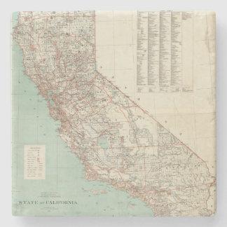 Estado de California 2 Posavasos De Piedra