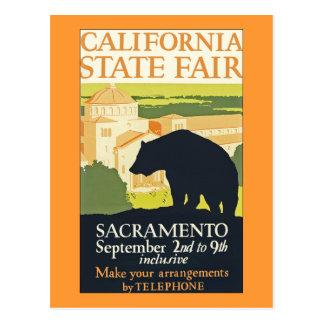 Estado de California justo Tarjeta Postal