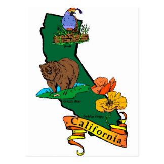 Estado de California Tarjeta Postal