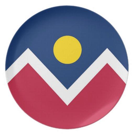 Estado de Colorado, placa de la bandera de la Plato