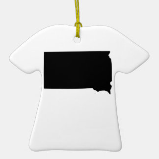 Estado de Dakota del Sur americano Adorno De Cerámica En Forma De Camiseta