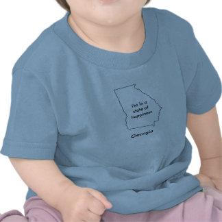 Estado de Georgia del mapa de la camiseta de la