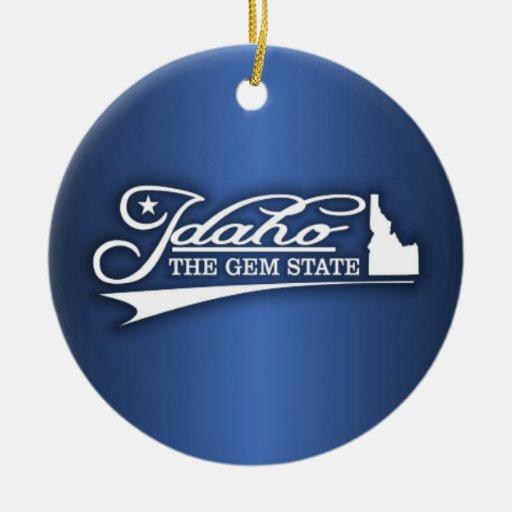 Estado de Idaho los míos Ornamento Para Arbol De Navidad