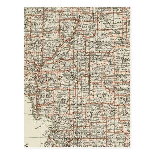 Estado de Illinois Tarjeta Postal